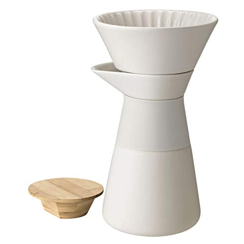 Stelton Kaffeefilterkanne, Stein, H 23,5cm/Ø 14cm/0,6L/Griff aus Silikon