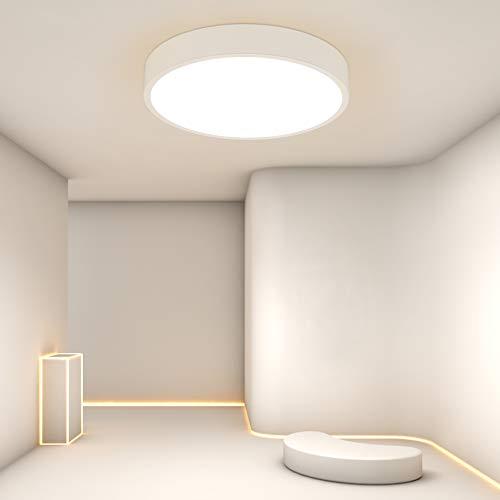 VPOW 24W dimmbare LED-Deckenleuchte, intelligente moderne LED-Deckenleuchte mit APP-Steuerung, Lichtfarbe einstellbar, für Kinderzimmer, Schlafzimmer, LED-Deckenbeleuchtung Fernbedienung