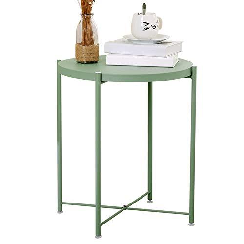 LVJUNQ Elegante tavolino Pieghevole in Metallo con Vassoio Rimovibile, Impermeabile alla ruggine, utilizzato in Sala da Pranzo, Soggiorno, Camera, Balcone e Ufficio