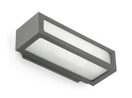 Faro Barcelona 70887 - NATRON Aplique, 100W, aluminio inyectado y difusor de cristal translúcido, color gris