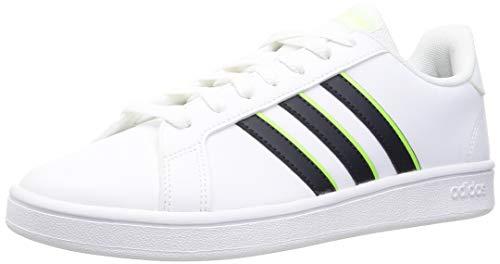 adidas Herren Grand Court Base Tennisschuh, FTWR White/Legend Ink/Signal Green, 43 1/3 EU