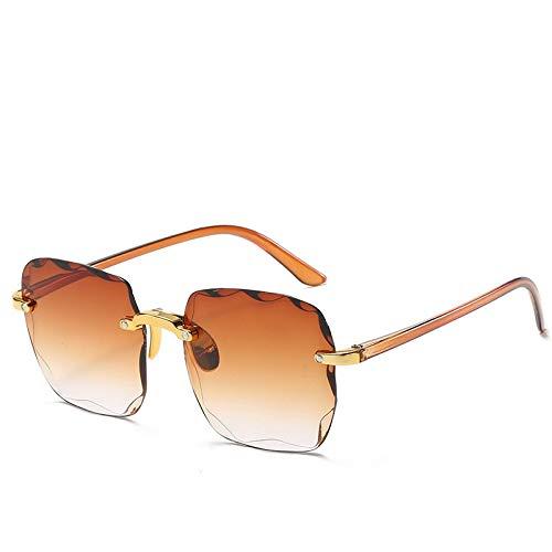Único Gafas de Sol Sunglasses Gafas De Sol Rectangulares De Moda para Mujer, Gafas De Sol Cuadradas Sin Montura para Muj