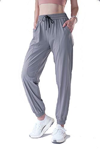 Kratos Attire Pantalones de yoga elásticos para mujer con 2 bolsillos, cintura alta y cordón ajustable