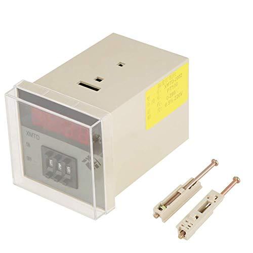 Mozusa Controlador de temperatura digital, controlador de termostato PID XMTD-2002 AC250V / 5A 50Hz Controlador eléctrico para envasado de goma plásticos