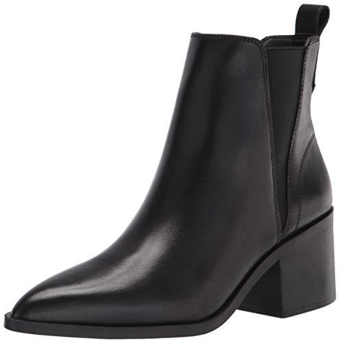 Steve Madden Women's Audience Chelsea Boot Black Leather 6