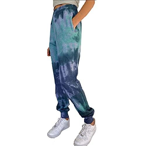 WJANYHN Damenmode Casual Tie Dye Printed Laterne Freizeithosen