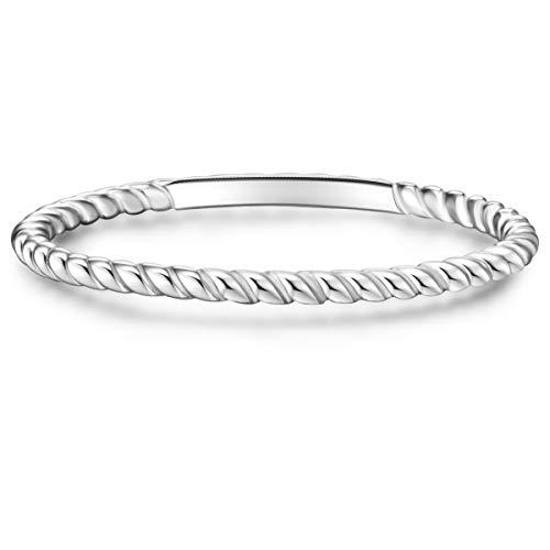 Glanzstücke München Damen-Ring Sterling Silber - Steckring gedreht Silberring Vorsteckring Silber 925