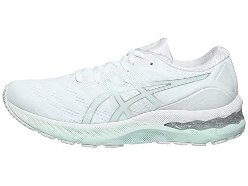 ASICS Women's Gel-Nimbus 23 Running Shoes, 7M, White/Pure Silver