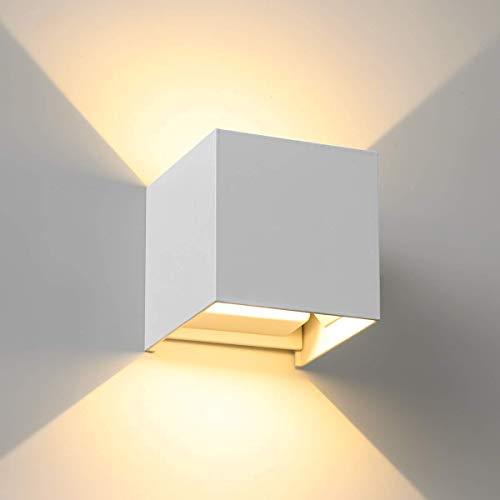 Twstyfal - Lámpara de pared regulable de 7 W, para interior y exterior, con ángulo de haz ajustable, diseño de aluminio fundido para dormitorio, salón