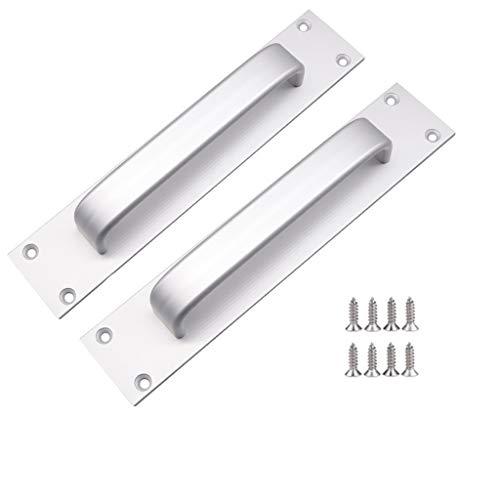 Manija de puerta corredera de aleación de aluminio, mango de ventana deslizante, 7 pulgadas, manija de puerta de incendio, tirador de puerta de inodoro (mate)