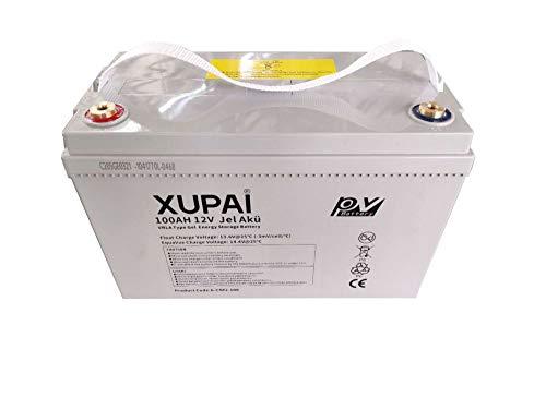 2 Packs XUPAI Deep Cycle 12V 100Ah Solar Gel...