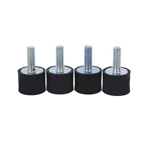 Soportes de goma, aislador de bobina Soportes de vibración Soportes de aislador de vibración 4x M8 Buena durabilidad para amantes del automóvil para accesorios de automóvil(VD20 * 15 M6 * 18, blanco)