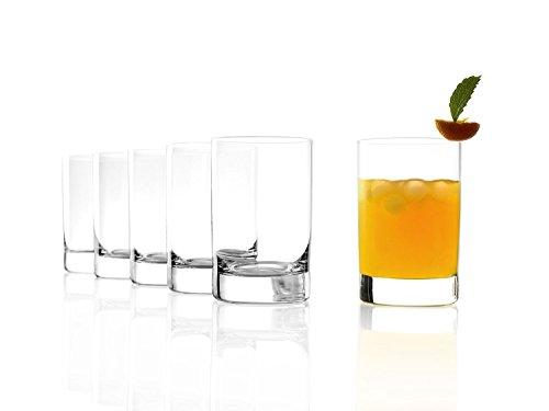 Stölzle Lausitz New York Bar Saftgläser 290ml, 6er Set Wassergläser, spülmaschinenfest, bleifreies Kristallglas, hochwertige Qualität