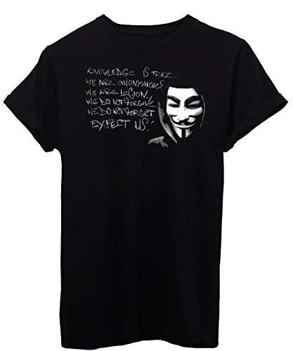 iMage T-Shirt V per Vendetta-Film - Uomo-L-Nera