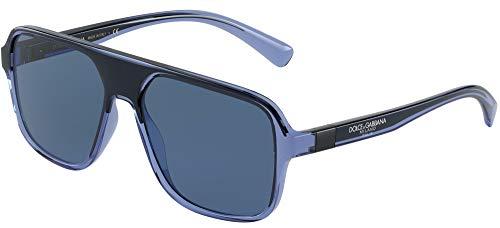 Dolce & Gabbana Gafas de sol DG6134 325880 Gafas AZUL TRANSPARENTE/NEGRO Hombre color Azul lente azul talla 57 mm