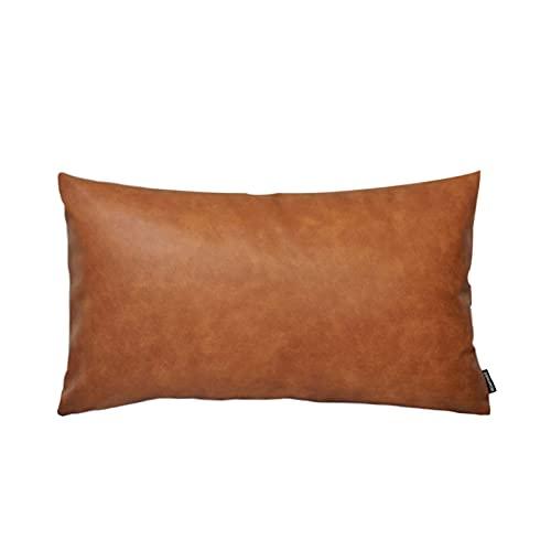 Federa per divano letto e divano, rettangolare, decorativa, per cuscino, marrone, marrone