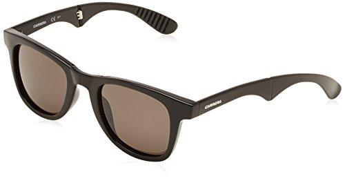 Carrera 6000/FD NR D28 Gafas de sol, Negro (Shiny Black/Brown Grey), 50 Unisex-Adulto