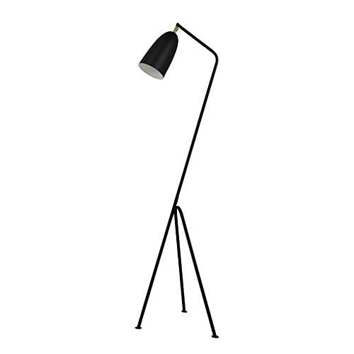 JLXW E27 statief staande lamp hoek instelbaar modern smeedijzer heldere verlichting eenvoudig te installeren hoge staande lamp voor woonkamer slaapkamer studie of kantoor, dimming