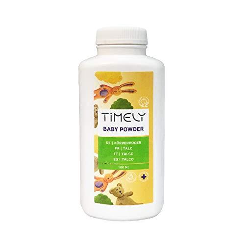 Timely - Polvos de talco para las irritaciones y la sudoración, 100 g