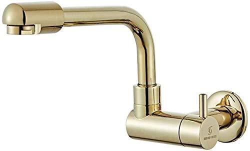 Grifo frío único alargado trapeador en la pared grifo de la piscina enchufe de pared grifo de cocina de bronce grifo de ahorro de agua boquilla giratoria de 360 ° boquilla ajustable