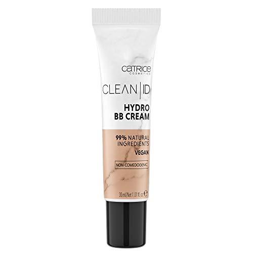 Catrice Clean ID Hydro BB Cream, Make Up, Foundation, Nr. 020 Medium, nude, für sensible Haut, für trockene Haut, für Mischhaut, feuchtigkeitsspendend, natürlich, vegan, ohne Parfüm (30ml)
