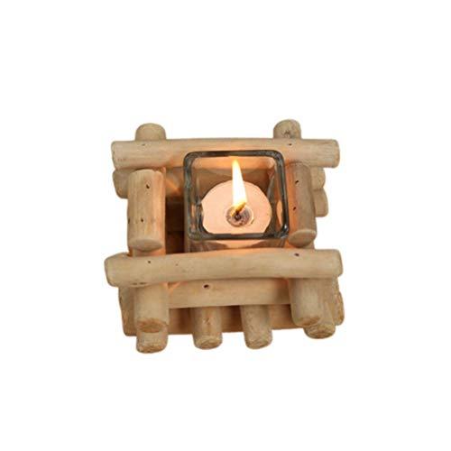 Natürlicher Treibholz-Kerzenhalter Handgefertigter Kerzenhalter Mitte Kerzenhalter EIN Altmodischer Kerzenhalter Mit Einem Charakteristischen Und Klassischen Geschmack Für Die Weihnachtsdekoration In