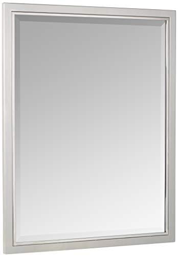 Head West 24 x 30 Classic Brush Nickel/Chrome Mirror, -