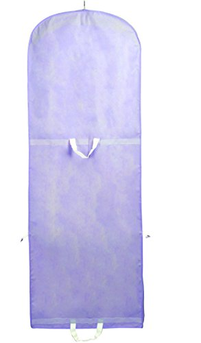 TUKA-i-AKUT Atmungsaktiver Kleidersack 180cm x 64cm, Faltbare Schutzhülle für Brautkleider/Abendkleider/Anzüge/Mäntel, Langzeitaufbewahrung & Transportieren, Lila TKB1001