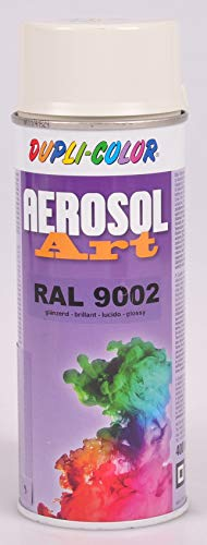 Duplicolor 722684 Spray Aérosol Art RAL 9 002, Brillant, 400 ml gris/blanc