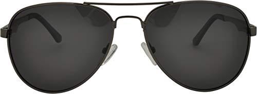 SQUAD Gafas de sol Para hombre y mujer polarizadas Piloto, 100% protección UV400, Doble puente