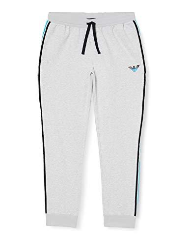 Emporio Armani Underwear Homewear - Iconic Terry Trousers Sporthose Herren, Grau (GRIGIO MELANGE 00048), 54 (Herstellergröße:XL)