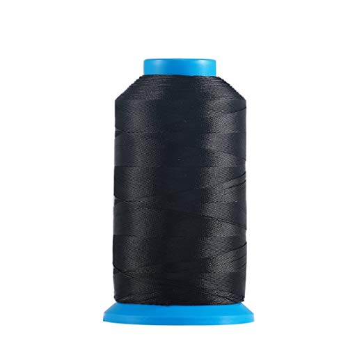 Meikeer Bonded Nylon Sewing Thread Size 69 T70 210D 3 1500 Yard,for Outdoor Leather Bag Shoes Canvas Upholstery (Black)