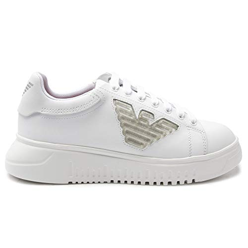 Emporio Armani Flatform Low Cup Sole Damen Sneaker Weiß 37.5 EU