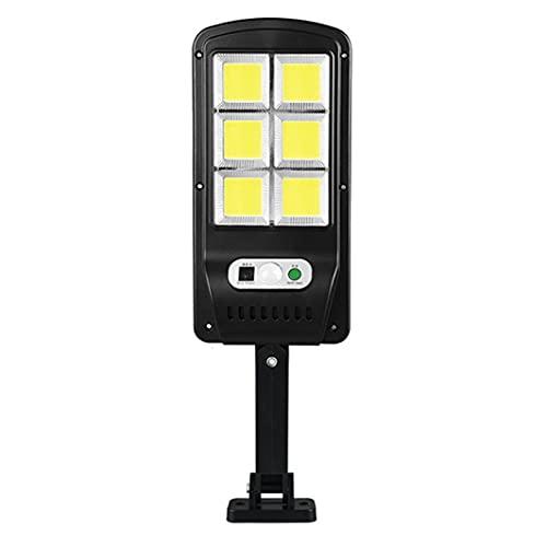 MOHAN88 Luz de Calle LED Solar con Sensor de Movimiento PIR Control Remoto Lámpara Inteligente Luz de Pared de Seguridad para jardín al Aire Libre 120 COB