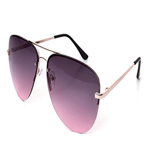 SenDi Occhiali da sole - Occhiali retrò metallici colorati riflettenti multicolori, grigio-viola