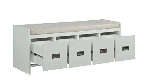 ACME Furniture  Berci White Bench with Storage