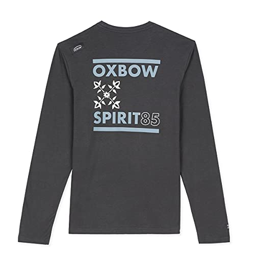 Oxbow N2TORJOK Tee Shirt Manches Longues Graphique Homme Asphalte