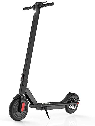 M MEGAWHEELS Scooter Elettrico con LED S5, Pieghevole e Facile da Trasportare, velocità Fino a 10 mph con Batteria a Lungo Raggio da 15 Miglia (Nero)