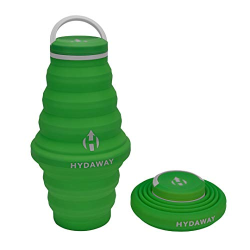 HYDAWAY Collapsible Water Bottle, 25oz Cap Lid | Ultra-Packable, Travel-Friendly, Food-Grade Silicone (Timber)
