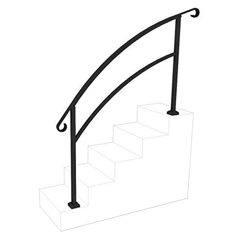 InstantRail 5-Step Adjustable Handrail (Black)