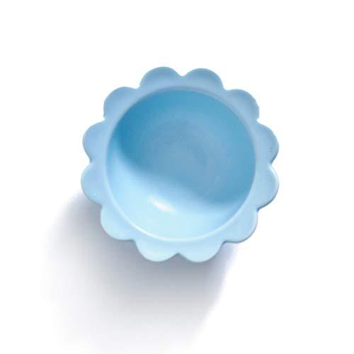 YUWANW Fleur Créative Plaque En Céramique Plat Occidental Plat De Pâtes Plat Plat De Salade Bol Bol À Soupe Bol Petit Plat À La Maison Plaque À Vaisselle, Bol En Dentelle Bleu Clair De 4,5 Pouces