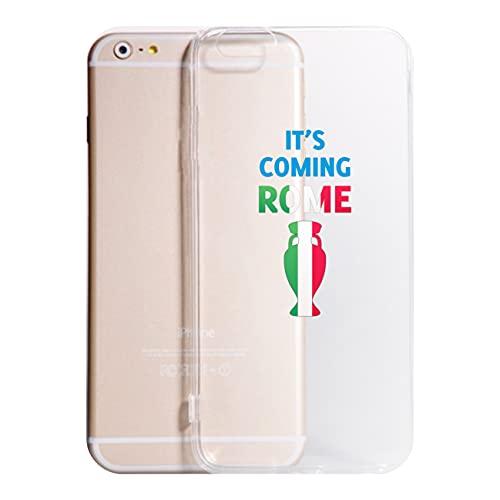 Cover compatibile con tutti i modelli di IPHONE - IT'S COMING ROME - Trasparente VARI COLORI UltraSottili AntiGraffio Antiurto Case Custodia (X)