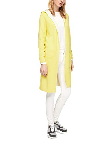 s.Oliver Damen Long-Cardigan aus Doubleface Light Yellow 44