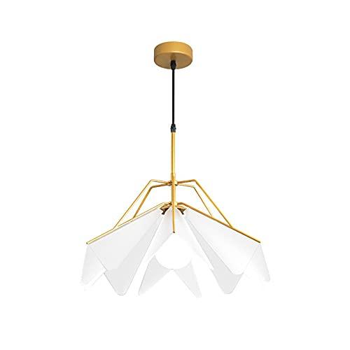 Lámparas De Araña Modernas para La Sala De Estar Nordic Decoración Interior Dormitorio Iluminación Comedor Barras Escaleras Colgando Lámpara Cocina Alambre Araña (Color : Gold)