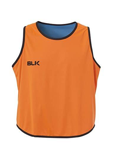 BLK Teamsport Veste de Sport réversible pour Homme S Orange/Bleu