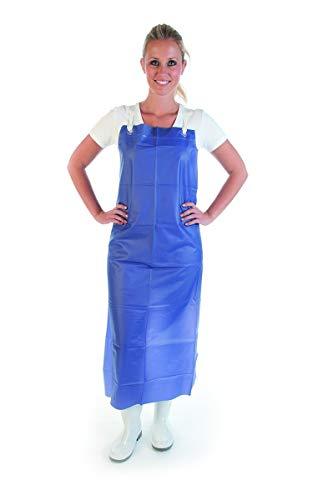 Hygienical Betriebsbedarf Vinyl-Spülschürze, Waschschürze, Molkerei-Latzschürze, Metzger-Fleischerschürze, 300 my, 115 x 90 cm, weiß, blau, stark, Farbe:blau