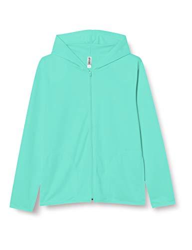 [グリマー] 長袖 4.4オンス ドライ UV ジップ パーカー 00338-AMZ メンズ ミントグリーン LL (日本サイズLL相当)
