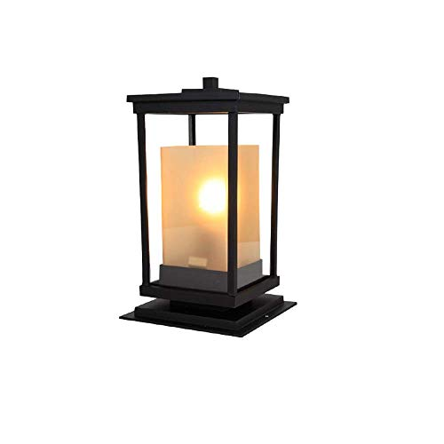Landscape Fence Wall Pillar Lamps Modern Black Gate Porch Column Post Lights Victorian Outdoor Garden Rural Lawn Floor Lamps Street Lights IP65 Waterproof E27 Pastoral Villa Terrace Bollard Light