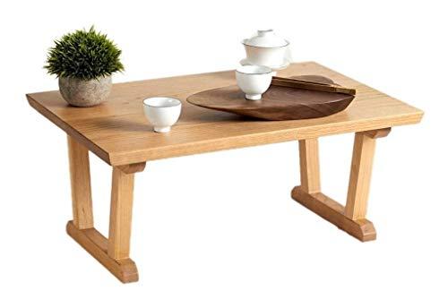 Mesa de ceremonia de té de mesa de té de mesa baja, Mesas pequeñas Tabla final Mesa de madera Sólido Café Simple pequeño, elegante Tatami Baja Bahía personalizada Té Sala de estar Dormitorio Bajo