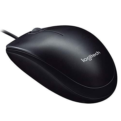Logitech M90 Mouse USB Cablato, 1000 DPI, Mouse Ambidestro, Compatibile con PC/Mac/Laptop, Nero
